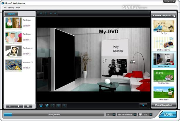 iSkysoft DVD Creator Screenshot 2