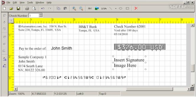 IDAutomation Check Printing Software Screenshot 3