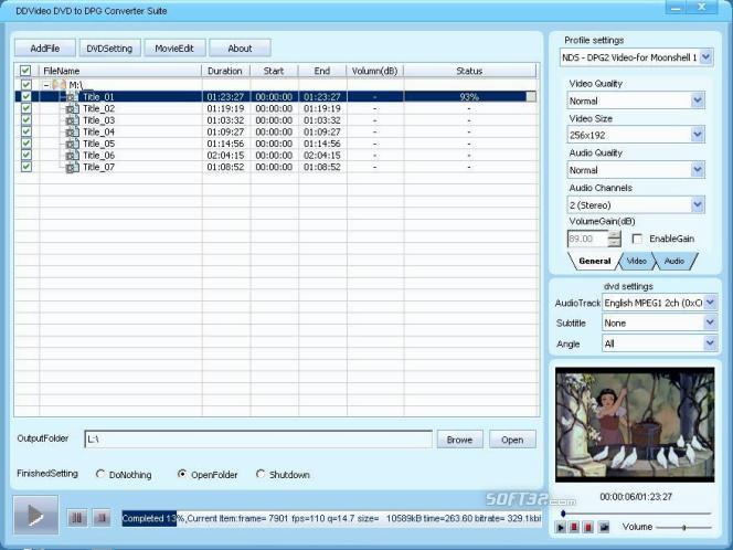 DDVideo DVD to DPG Converter Suite Screenshot 3