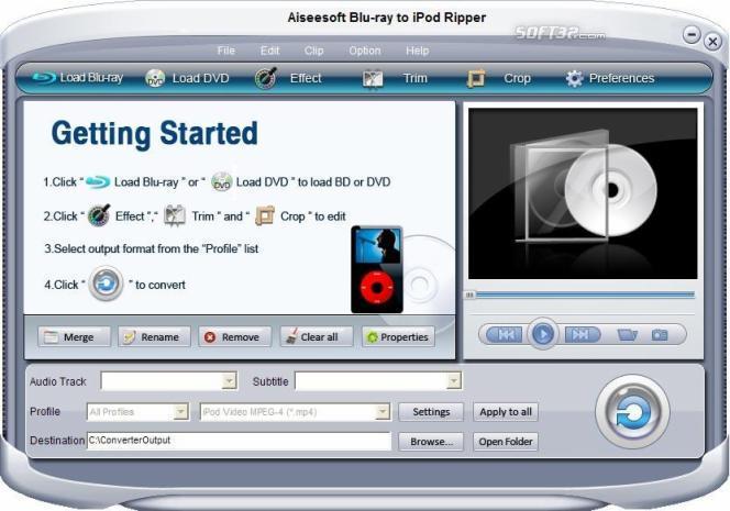 Aiseesoft Blu-Ray to iPod Ripper Screenshot 4
