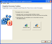Registry Recovery Toolbox Screenshot