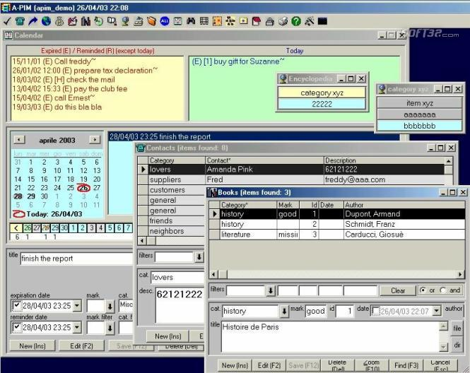 A-PIM (All-in-1 Personal Information Manager) Screenshot 2