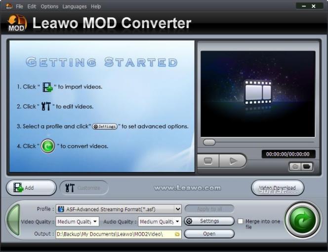 Leawo MOD Converter Screenshot 2