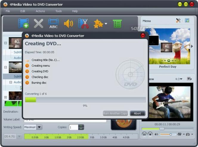 4Media Video to DVD Converter Screenshot 2
