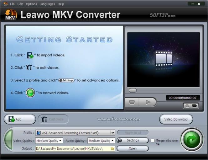Leawo MKV Converter Screenshot 2