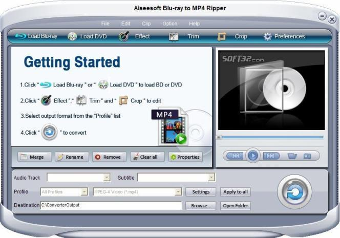 Aiseesoft Blu-ray to MP4 Ripper Screenshot 2