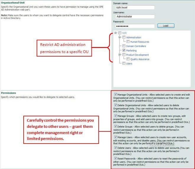 SharePoint AD Administration Screenshot 2