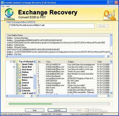 Enstella Exchange EDB Recovery Screenshot 2