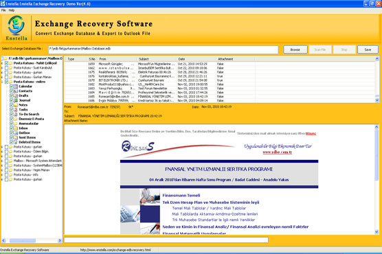 Enstella Exchange EDB Recovery Screenshot 1