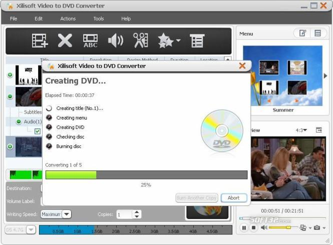 Xilisoft Video to DVD Converter Screenshot 2