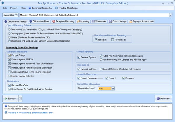 Crypto Obfuscator For .Net Screenshot