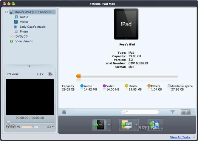 4Media iPad Max for Mac Screenshot 2