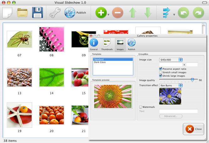 Visual SlideShow Mac Screenshot 1