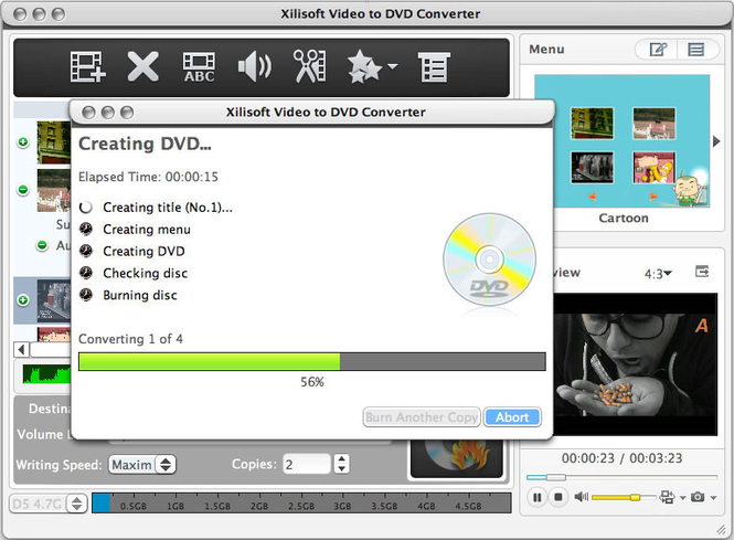 Xilisoft Video to DVD Converter for Mac Screenshot 1