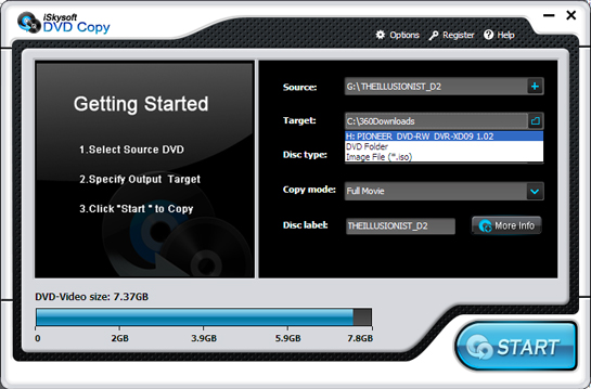 iSkysoft DVD Copy Screenshot 1