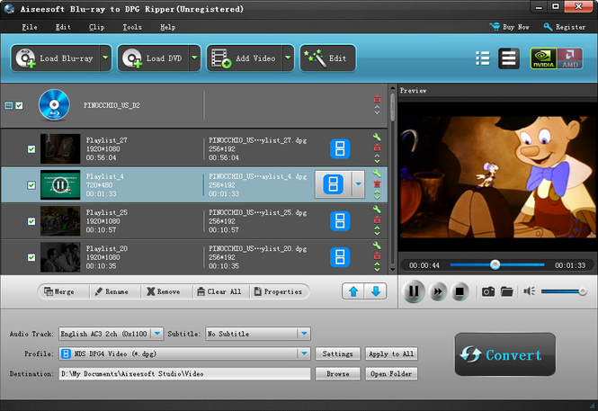 Aiseesoft Blu-ray to DPG Ripper Screenshot