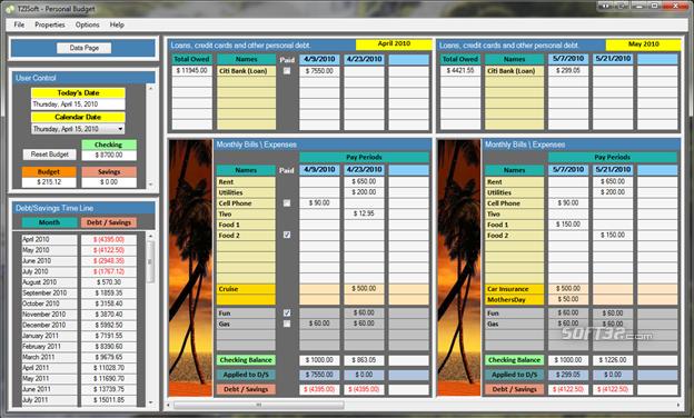 TZISoft - Personal Budget Screenshot 3