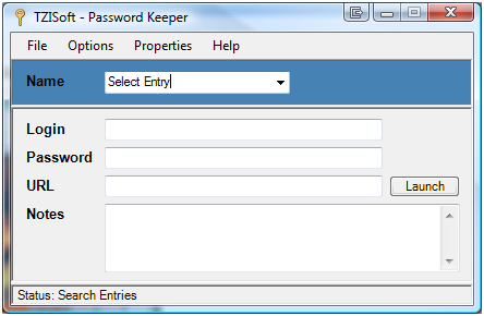 TZISoft - Password Keeper Screenshot