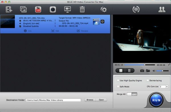WinX HD Video Converter for Mac Screenshot 4