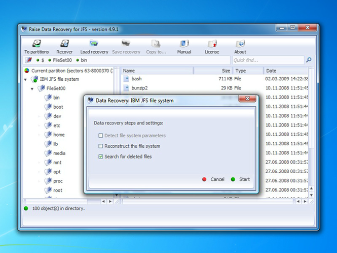 Raise Data Recovery for JFS Screenshot