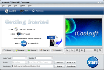 iCoolsoft DVD to MP3 Converter Screenshot