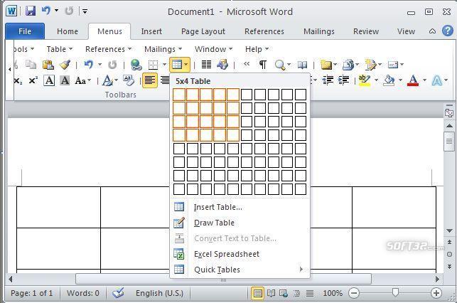 Classic Menu for Office 2010 Starter 64bit Screenshot 3