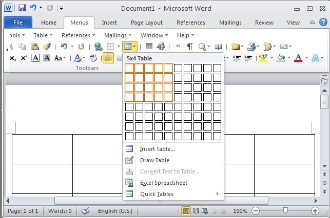 Classic Menu for Office 2010 Starter 64bit Screenshot 1