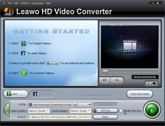 Leawo HD Video Converter Screenshot 3