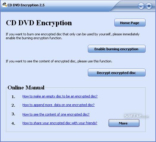 GiliSoft CD DVD Encryption Screenshot 3