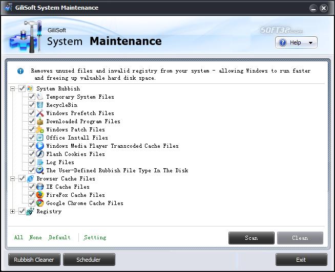 GiliSoft System Maintenance Screenshot 3