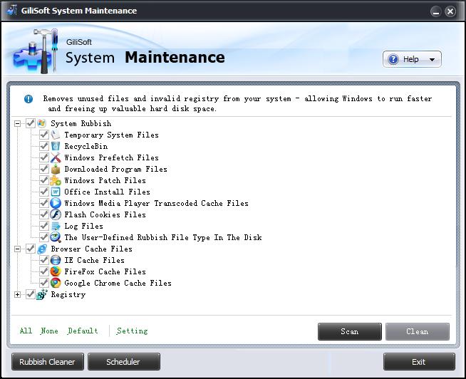 GiliSoft System Maintenance Screenshot
