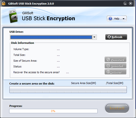 GiliSoft USB Stick Encryption Screenshot 1