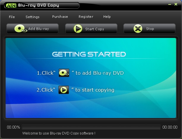 AinSoft Blu-ray DVD Copy Screenshot 1