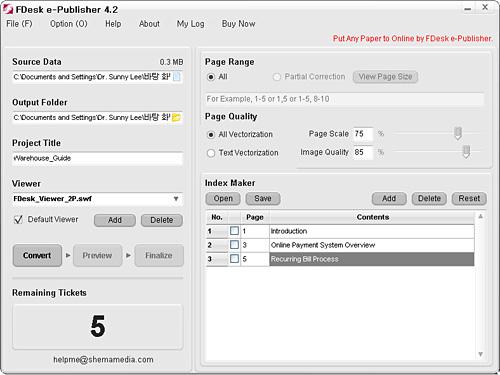 FDesk e-Publisher Screenshot