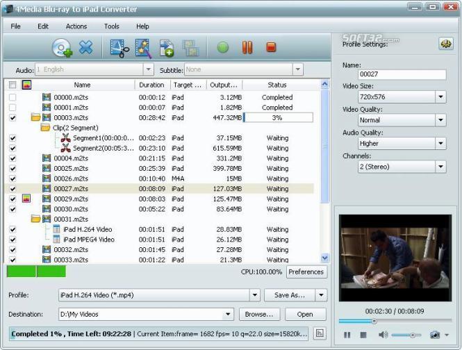 4Media Blu-ray to iPad Converter Screenshot 3