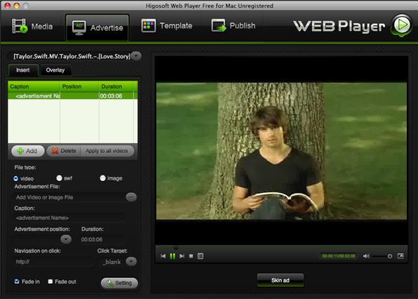 Free Higosoft Web Player for Mac Screenshot 1