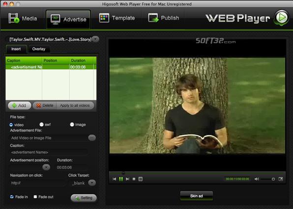 Free Higosoft Web Player for Mac Screenshot 3