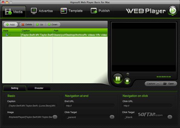 Higosoft Web Player Basic Screenshot 3