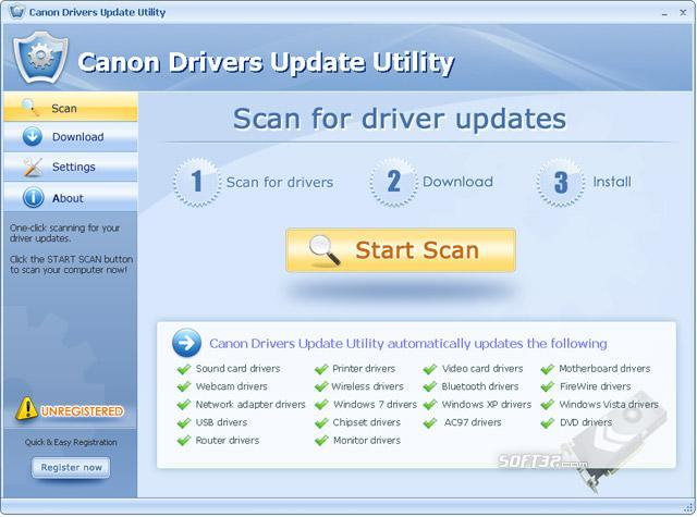 Canon Drivers Update Utility Screenshot 3