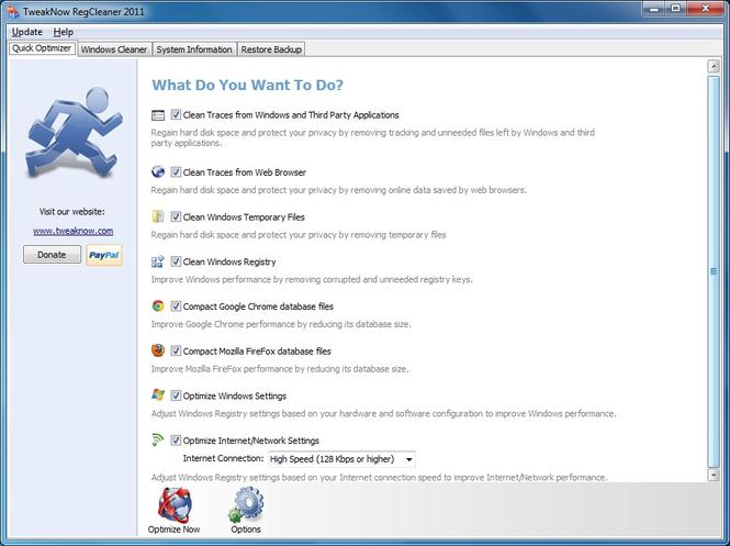 TweakNow RegCleaner Screenshot 1
