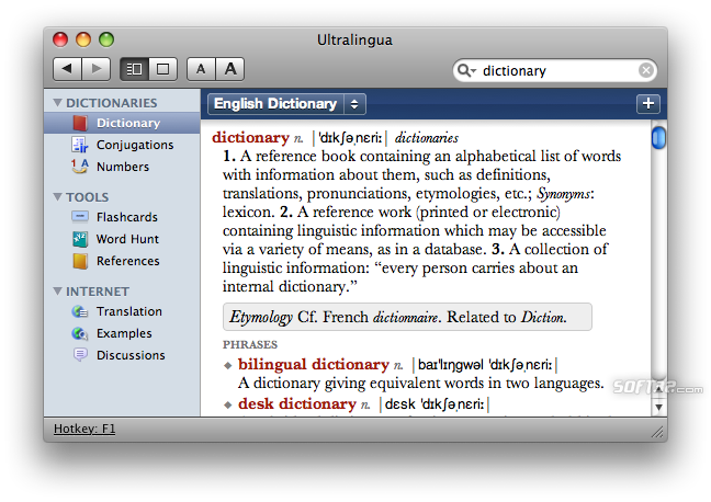 French-English Dictionary by Ultralingua for Mac Screenshot 3