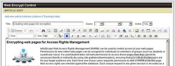 ArtistScope Web Encrypt Screenshot 3