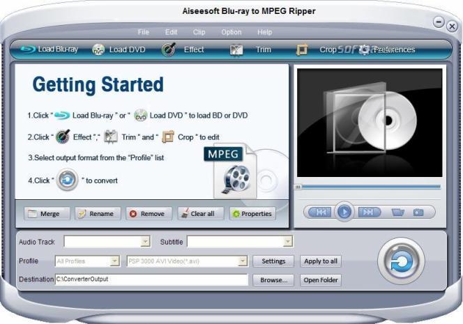 Aiseesoft Blu-ray to MPEG Ripper Screenshot 2