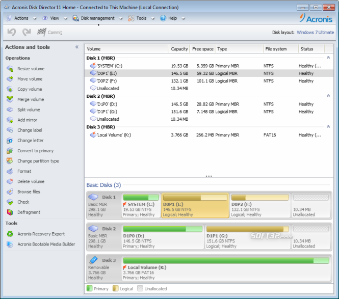 Acronis Disk Director Home Screenshot 2