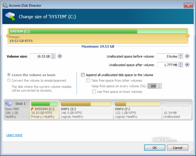 Acronis Disk Director Home Screenshot 3