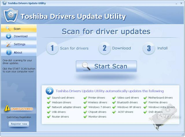 Download Toshiba Drivers Update Utility 10 7