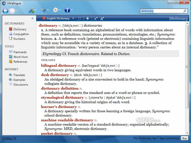 French-English Dictionary by Ultralingua for Windows Screenshot 2