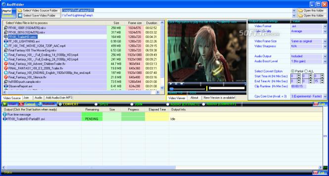 AudVidder Screenshot 2