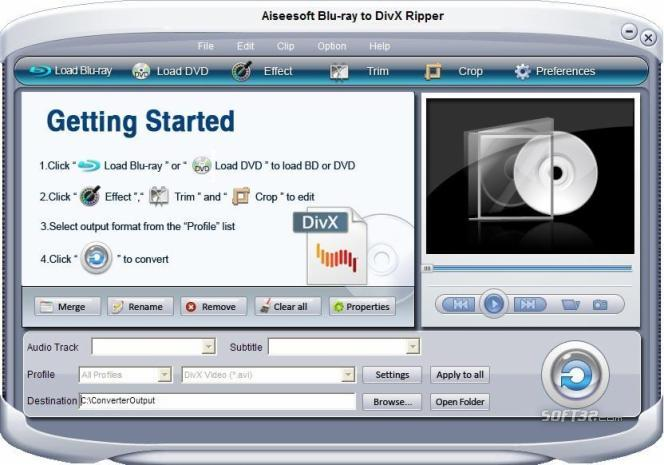Aiseesoft Blu-ray to DivX Ripper Screenshot 3