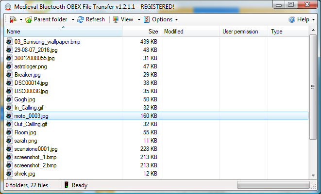 Bluetooth File Transfer Screenshot 1
